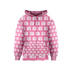 Pink Modern Chic Vector Camera Illustration Pattern Kids Zipper Hoodies by creativemom