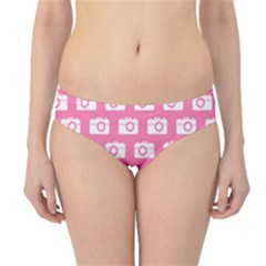 Pink Modern Chic Vector Camera Illustration Pattern Hipster Bikini Bottoms by creativemom