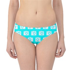 Modern Chic Vector Camera Illustration Pattern Hipster Bikini Bottoms by creativemom