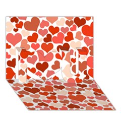 Heart 2014 0901 I Love You 3d Greeting Card (7x5)
