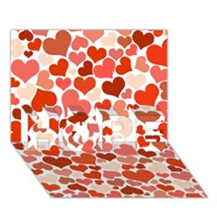 Heart 2014 0901 Hope 3d Greeting Card (7x5)  by JAMFoto