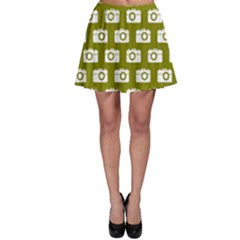 Modern Chic Vector Camera Illustration Pattern Skater Skirts by creativemom