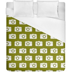 Modern Chic Vector Camera Illustration Pattern Duvet Cover Single Side (Double Size) by creativemom
