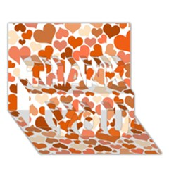 Heart 2014 0902 Thank You 3d Greeting Card (7x5)  by JAMFoto