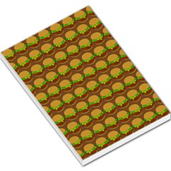 Burger Snadwich Food Tile Pattern Large Memo Pads