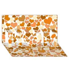 Heart 2014 0903 Mom 3d Greeting Card (8x4)