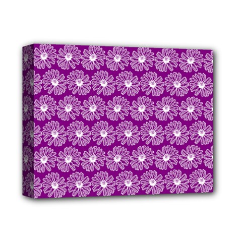 Gerbera Daisy Vector Tile Pattern Deluxe Canvas 14  X 11  by creativemom
