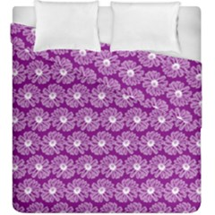 Gerbera Daisy Vector Tile Pattern Duvet Cover (King Size) by creativemom