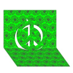 Gerbera Daisy Vector Tile Pattern Peace Sign 3d Greeting Card (7x5)