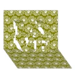 Gerbera Daisy Vector Tile Pattern Love 3d Greeting Card (7x5)  by creativemom