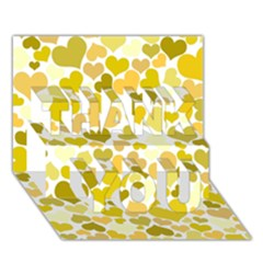 Heart 2014 0905 Thank You 3d Greeting Card (7x5)  by JAMFoto