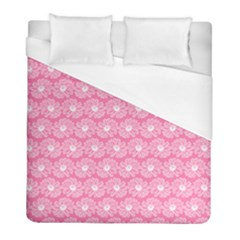 Pink Gerbera Daisy Vector Tile Pattern Duvet Cover Single Side (twin Size) by creativemom
