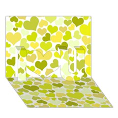 Heart 2014 0906 I Love You 3d Greeting Card (7x5)