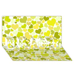 Heart 2014 0906 Engaged 3d Greeting Card (8x4)  by JAMFoto