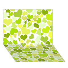 Heart 2014 0907 Apple 3d Greeting Card (7x5)