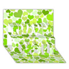 Heart 2014 0908 Thank You 3d Greeting Card (7x5)  by JAMFoto