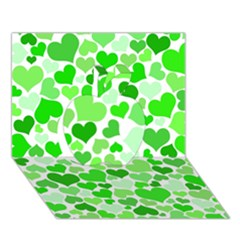 Heart 2014 0911 Apple 3d Greeting Card (7x5)