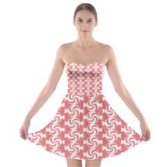 Candy Illustration Pattern  Strapless Bra Top Dress by creativemom