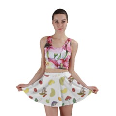 Mushrooms Pattern Mini Skirts by Famous