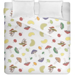 Mushrooms Pattern Duvet Cover (King Size) by Famous