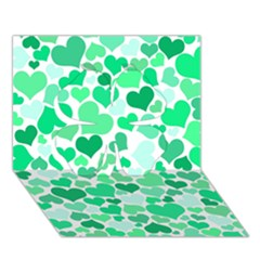 Heart 2014 0915 Clover 3d Greeting Card (7x5)  by JAMFoto