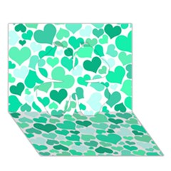 Heart 2014 0916 Clover 3d Greeting Card (7x5)