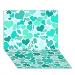 Heart 2014 0917 Clover 3d Greeting Card (7x5)  by JAMFoto