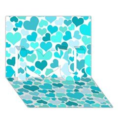 Heart 2014 0918 I Love You 3d Greeting Card (7x5)