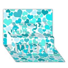 Heart 2014 0918 Get Well 3d Greeting Card (7x5)