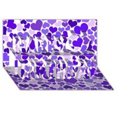 Heart 2014 0926 Happy Birthday 3d Greeting Card (8x4)