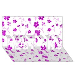 Sweet Shiny Floral Pink Best Bro 3d Greeting Card (8x4)