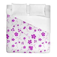 Sweet Shiny Floral Pink Duvet Cover Single Side (twin Size) by ImpressiveMoments