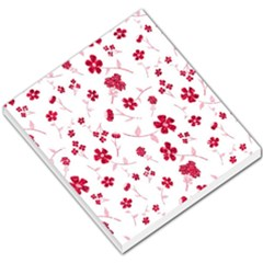 Sweet Shiny Floral Red Small Memo Pads by ImpressiveMoments