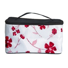 Sweet Shiny Floral Red Cosmetic Storage Cases by ImpressiveMoments