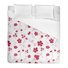 Sweet Shiny Floral Red Duvet Cover Single Side (twin Size) by ImpressiveMoments