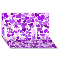 Heart 2014 0928 Mom 3d Greeting Card (8x4)
