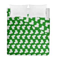 Cute Baby Socks Illustration Pattern Duvet Cover (Twin Size) by creativemom