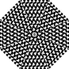 Black And White Cute Baby Socks Illustration Pattern Folding Umbrellas