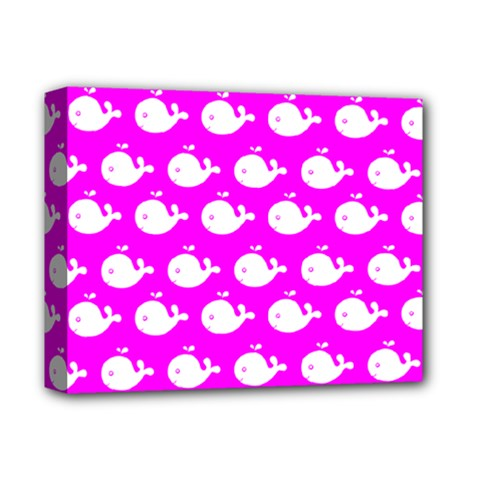 Cute Whale Illustration Pattern Deluxe Canvas 14  X 11  by creativemom