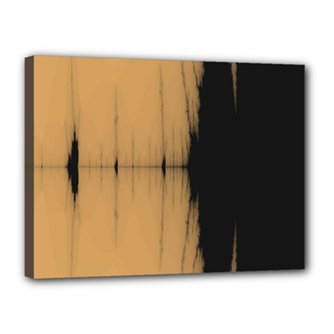 Sunset Black Canvas 16  X 12  by theunrulyartist