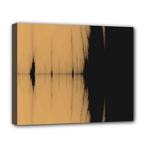 Sunset Black Deluxe Canvas 20  X 16   by theunrulyartist