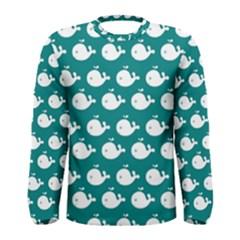 Cute Whale Illustration Pattern Men s Long Sleeve T-shirts