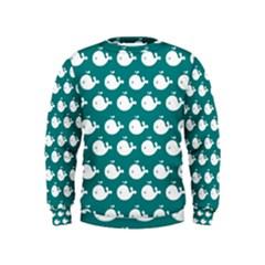 Cute Whale Illustration Pattern Boys  Sweatshirts