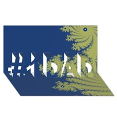 Blue and Green Design #1 DAD 3D Greeting Card (8x4)