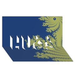 Blue And Green Design Hugs 3d Greeting Card (8x4)