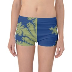 Blue And Green Design Boyleg Bikini Bottoms by theunrulyartist