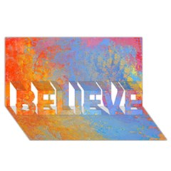 Hot And Cold Believe 3d Greeting Card (8x4)