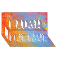 Hot And Cold Laugh Live Love 3d Greeting Card (8x4)  by theunrulyartist