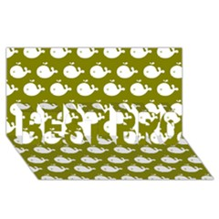 Cute Whale Illustration Pattern Best Bro 3d Greeting Card (8x4)