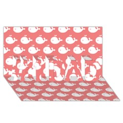 Cute Whale Illustration Pattern #1 DAD 3D Greeting Card (8x4)